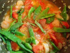 160719ササゲと海老のトマト煮16